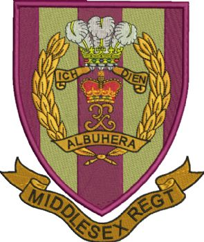 Middlesex Regiment Embroidered badge